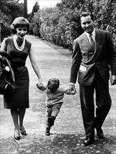 Gina Lollobrigida, Milko Skofic et leur fils Milko en 1960