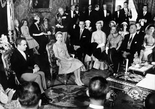 Mariage civil de Grace Kelly et du prince Rainier III de Monaco en 1956