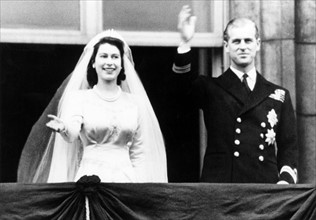Mariage d'Elisabeth II et du Prince Philip Mountbatten