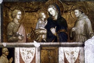 Lorenzetti: La Vierge et l'Enfant avec Saint François et Saint Jean l'évangéliste