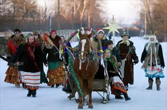 Fête du 'Vieux Nouvel An' en Biélorussie