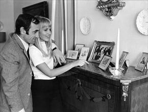 Charles Aznavour et sa femme Ulla Thorsell, 1967
