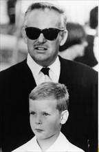 Rainier III de Monaco et son fils Albert