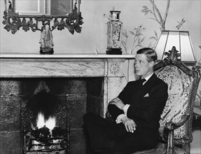 Le prince de Galles, futur roi Edouard VIII d'Angleterre