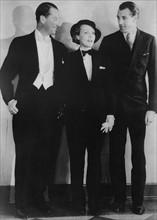 Marlène Dietrich avec Maurice Chevalier et Gary Cooper