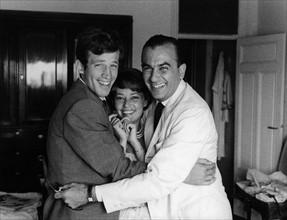 Jean-Paul Belmondo, Jeanne Moreau et Raoul Lévy