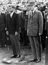 Charles de Gaulle et John F. Kennedy