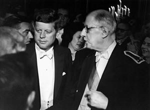 John F. Kennedy avec le général De Gaulle