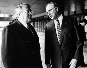 Pierre Mauroy et Helmut Kohl
