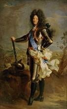 Rigaud, Portrait de Louis XIV en armure