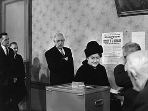 Charles et Yvonne de Gaulle, 1965