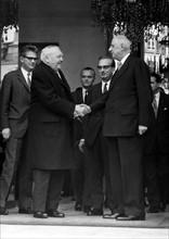 Visite officielle de Ludwig Erhard en France, 1966