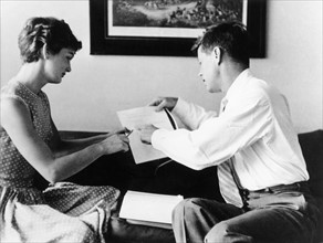 John F. Kennedy avec sa femme Jacqueline