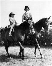Jacqueline Bouvier avec sa mère Janet Norton Lee