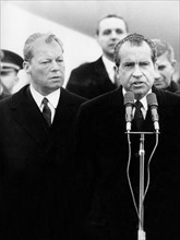 Richard Nixon et Willy Brandt