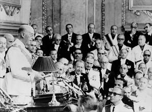 Le général Franco et Juan Carlos