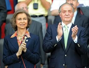 Juan Carlos Ier d'Espagne et la reine Sofia