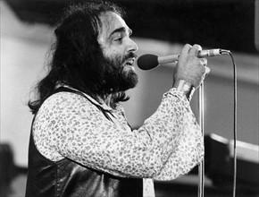 Le chanteur grec Demis Roussos