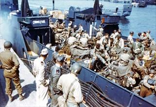 Préparatifs du débarquement allié, début juin 1944
