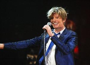 David Bowie, en concert à Berlin