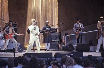 David Bowie pendant la tournée Serious Moonlight Tour