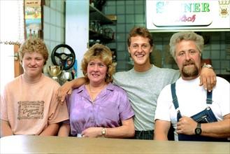 Michael Schumacher entouré de sa famille