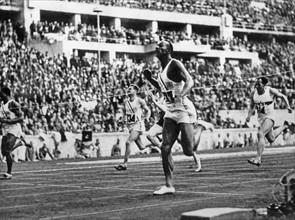 Jesse Owens aux JO de Berlin 1936