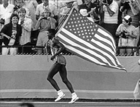 Carl Lewis aux JO d'été de Los Angeles 1984