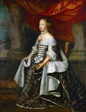 Beaubrun, Portrait en pied de la reine Marie-Thérèse, infante d'Espagne, en grand costume royal