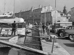 Le port de Saint Tropez en 1961
