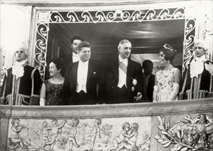 John F. Kennedy, Charles de Gaulle et Jackie Kennedy, 1961