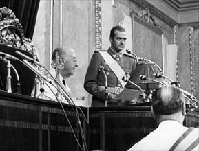 Francisco Franco et Juan Carlos