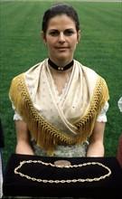 Silvia Sommerlath, alors hôtesse des Jeux Olympiques de Munich en 1972