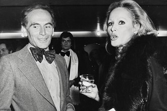 Ursula Andress et Pierre Cardin, 1975