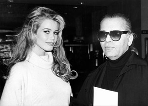 Claudia Schiffer et Karl Lagerfeld, 1995