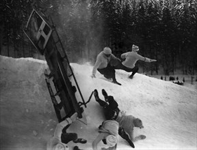 Accident de luge à Saint Moritz, 1917