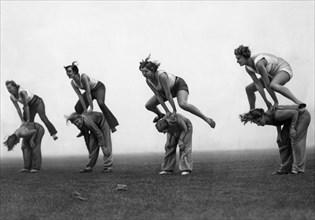 Cours de gymnastique en Allemagne, 1931