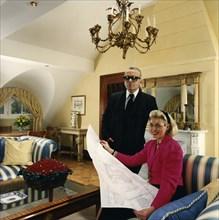 Karl Lagerfeld et Tini Graefin Rothkirch, 1990