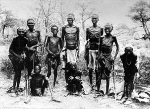 Survivants Héréros après le soulèvement contre la domination allemande en Namibie