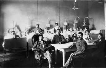 Patients suisses atteints de la grippe espagnole, 1918