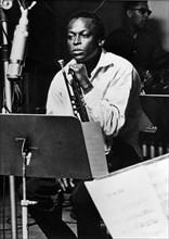 Miles Davis, musican (Jazz). Portrait 1960
