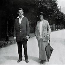 Egon Schiele et Wally Neuzil, 1913.
