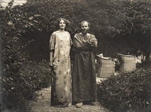 Gustav Klimt et Emilie Floege, 1910.
