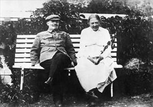 Lénine et sa femme Nadejda Kroupskaïa