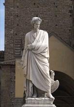 Statue of Dante Alighieri in front of Santa Croce