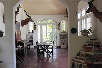 Dining area in the Ernest Hemingway house