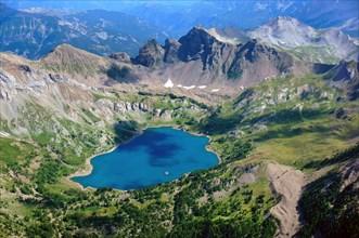 Lac d'Allos mountain lake
