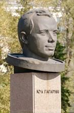 Yuri Gagarin bronze monument