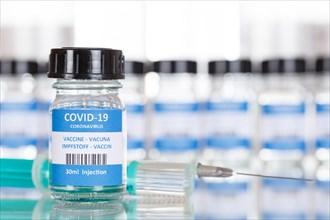 Vaccine Coronavirus Corona Virus COVID-19 Covid Vaccination Vaccine Syringe Text free space Copyspace