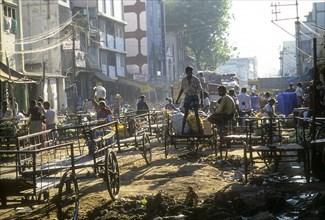 A scene of north Maret Street in Madurai